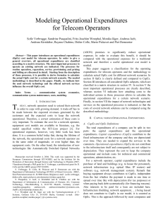 Modeling Operational Expenditures for Telecom Operators