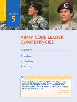 Army Core Leader Competencies