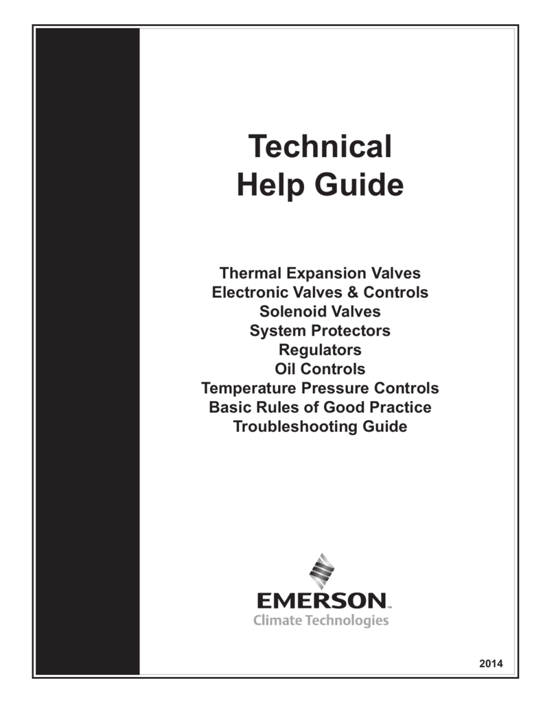Technical Help Guide - Emerson Climate Technologies