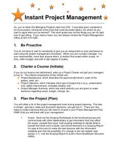 Instant Project Management - Minnesota Department of Transportation