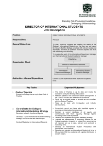 DIRECTOR OF INTERNATIONAL STUDENTS