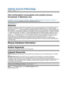 Internet Journal of Neurology Abstract Reaxys Database Information