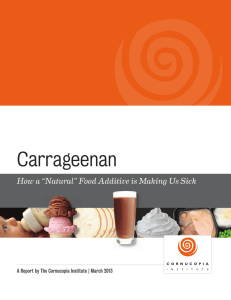 Carrageenan: How a Natural Food Additive is