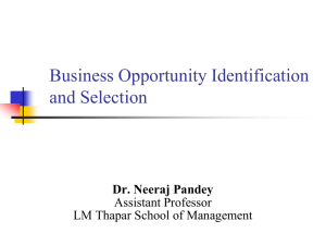 Business Opportunity Identification and Selection, Assessing