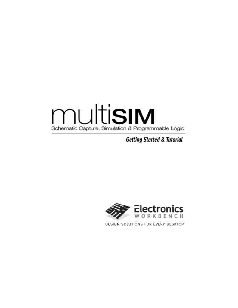 Simulating Your Circuit 51 About This Chapter Own Multisim Like Design And Simulation Application