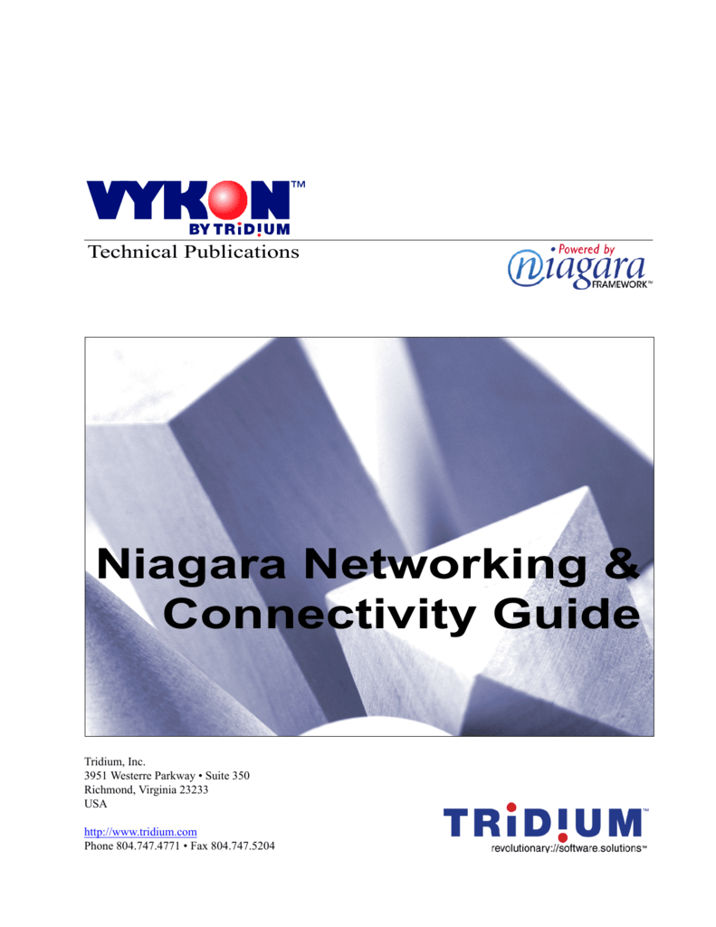 Niagara Networking and Connectivity Guide