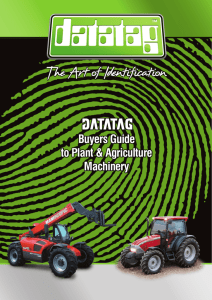 Buyers Guide to Plant & Agriculture Machinery Buyers