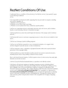 RezNet Conditions Of Use