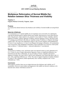 Multiplanar Reformation of Normal Middle Ear - Member
