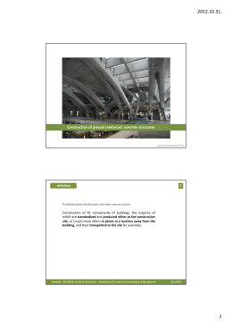 Construction of prefabricated reinforced concrete