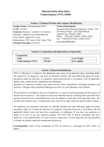 Material Safety Data Sheet Trinitrotoluene (TNT) MSDS