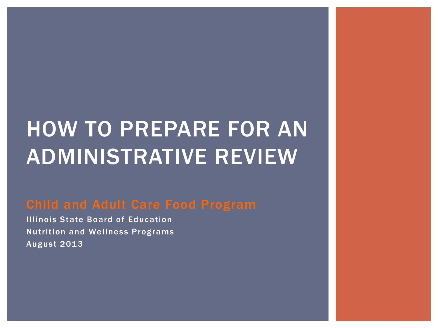 How To Prepare For An Administrative Review Powerpoint