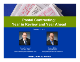 Postal Contracting: Year in Review and Year Ahead