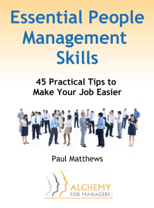 Essential People Management Skills