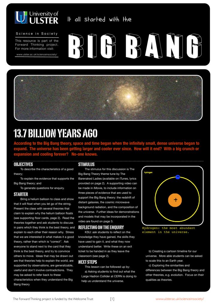 Big Bang University Of Ulster