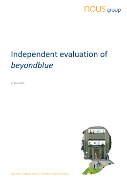 Independent evaluation of beyondblue