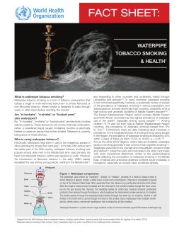 WHO fact sheet on waterpipe tobacco smoking