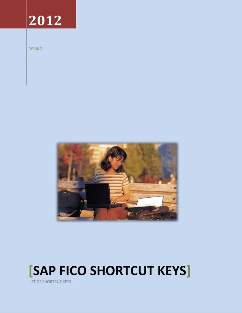 sap fico shortcut keys