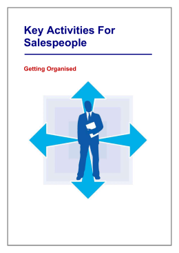 Key Activities For Salespeople - The Sales Training Consultancy