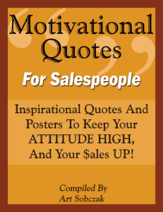 Motivational Quotes For Salespeople