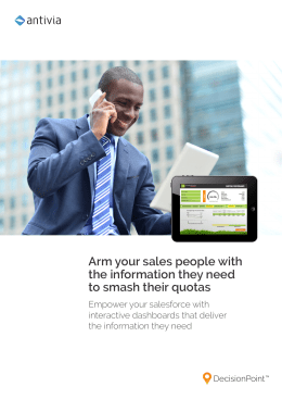 Arm your sales people with the information they need to