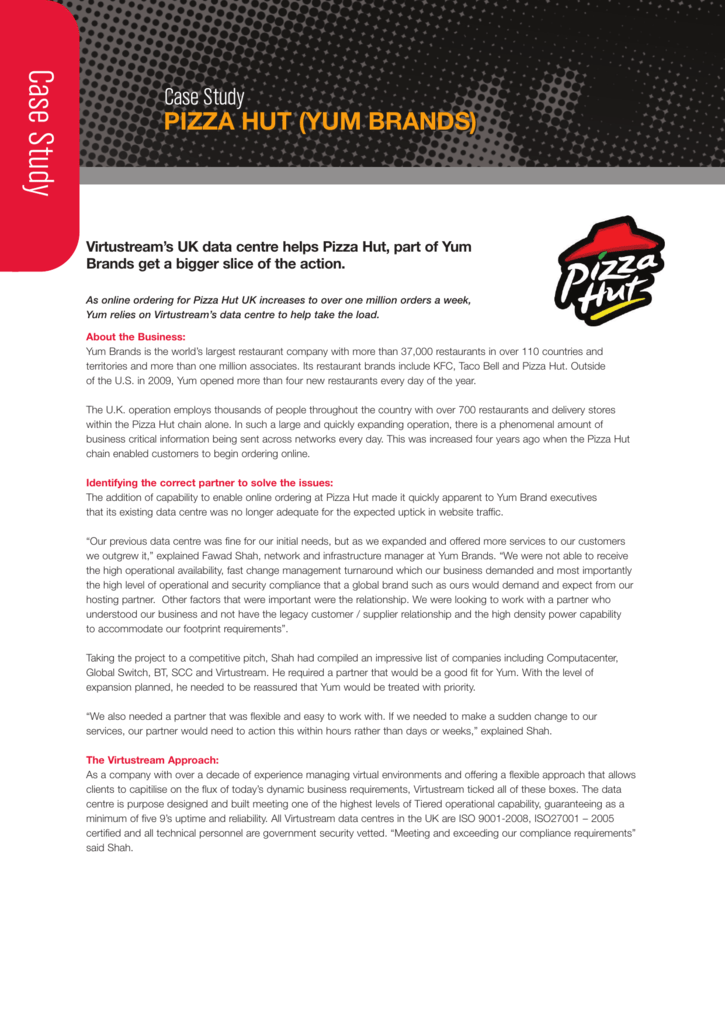 Case Study Pizza Hut Yum Brands Casestudy
