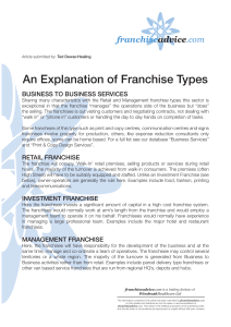 An Explanation of Franchise Types