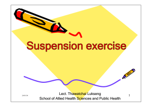 Suspension exercise