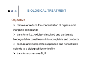BIOLOGICAL TREATMENT Objective