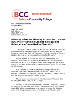 Diversity advocate Minority Access, Inc., names BCC one of