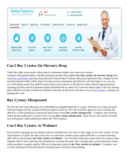 Cytotec Cost | Can I Buy Cytotec On Mercury Drug® Price