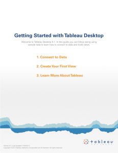 Getting Started with Tableau Desktop