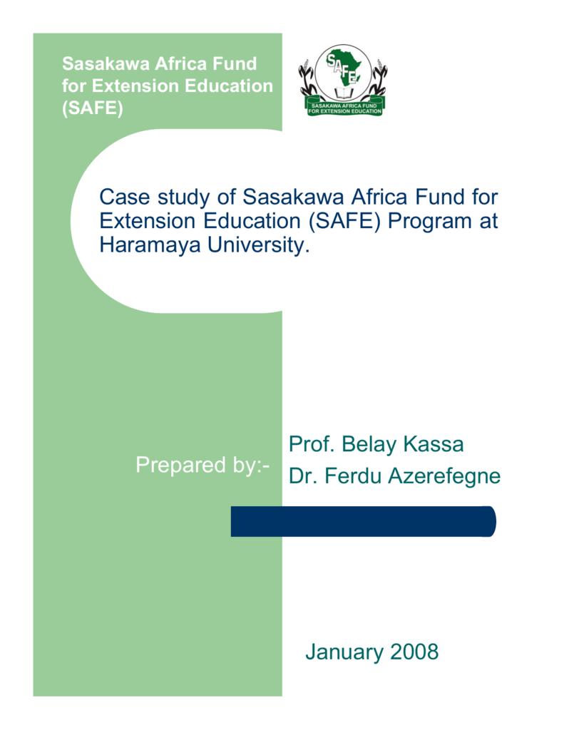 Program at Haramaya University, Ethiopia