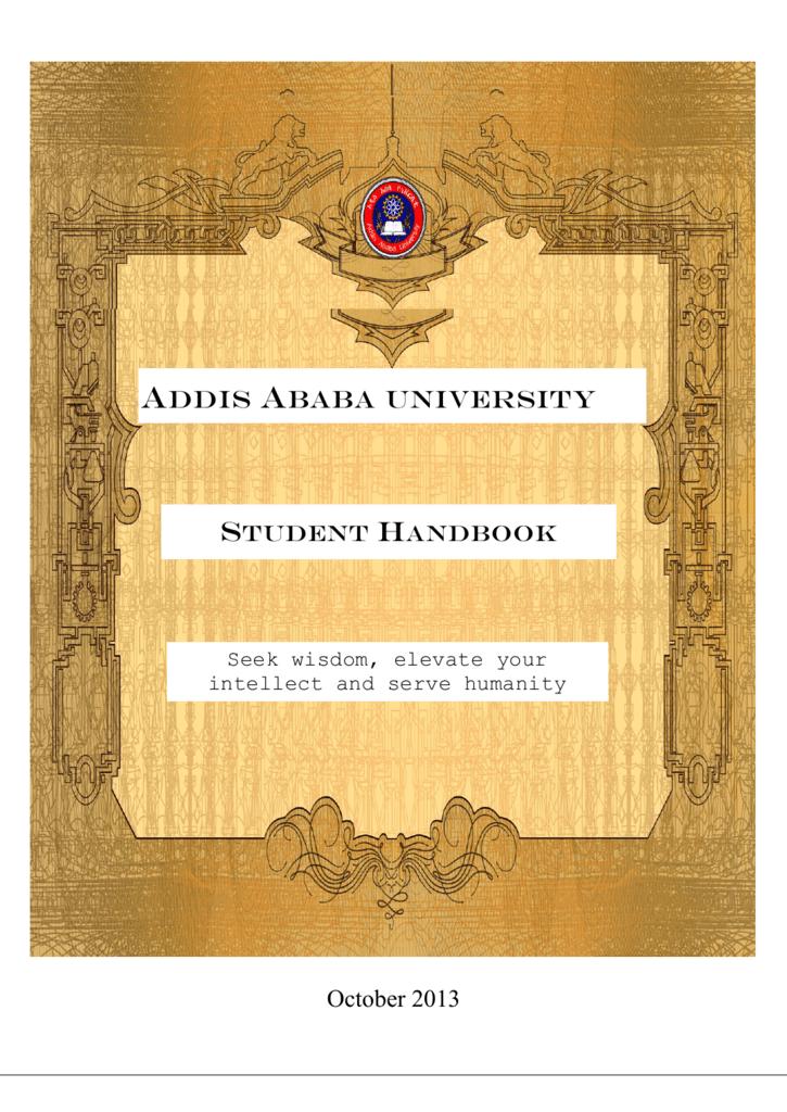 Student Handbook - Addis Ababa University, AAU