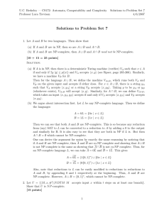 Solutions to Homework 7