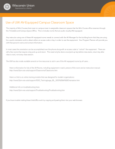 AV Equipped Campus Classrooms Information