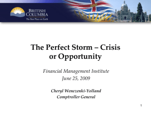 The Perfect Storm ‒ Crisis or Opportunity