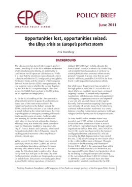 Opportunities lost, opportunities seized