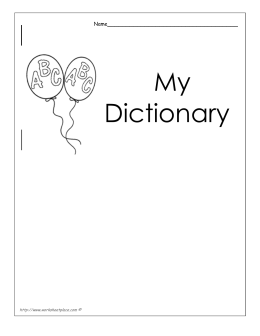 My Dictionary - My School Library Activities