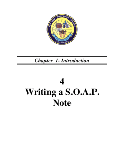 4 Writing a S.O.A.P. Note