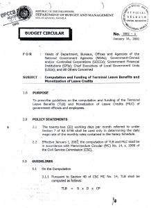 Budget Circular No. 2002-1 - Department of Budget and Management