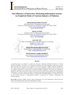 The Efficiency of Innovative Marketing Information System