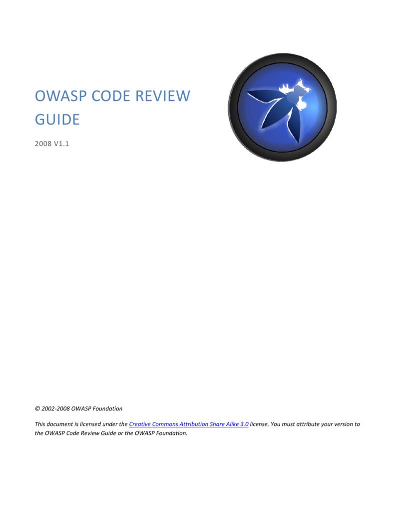 OWASP Code Review Guide V1 1