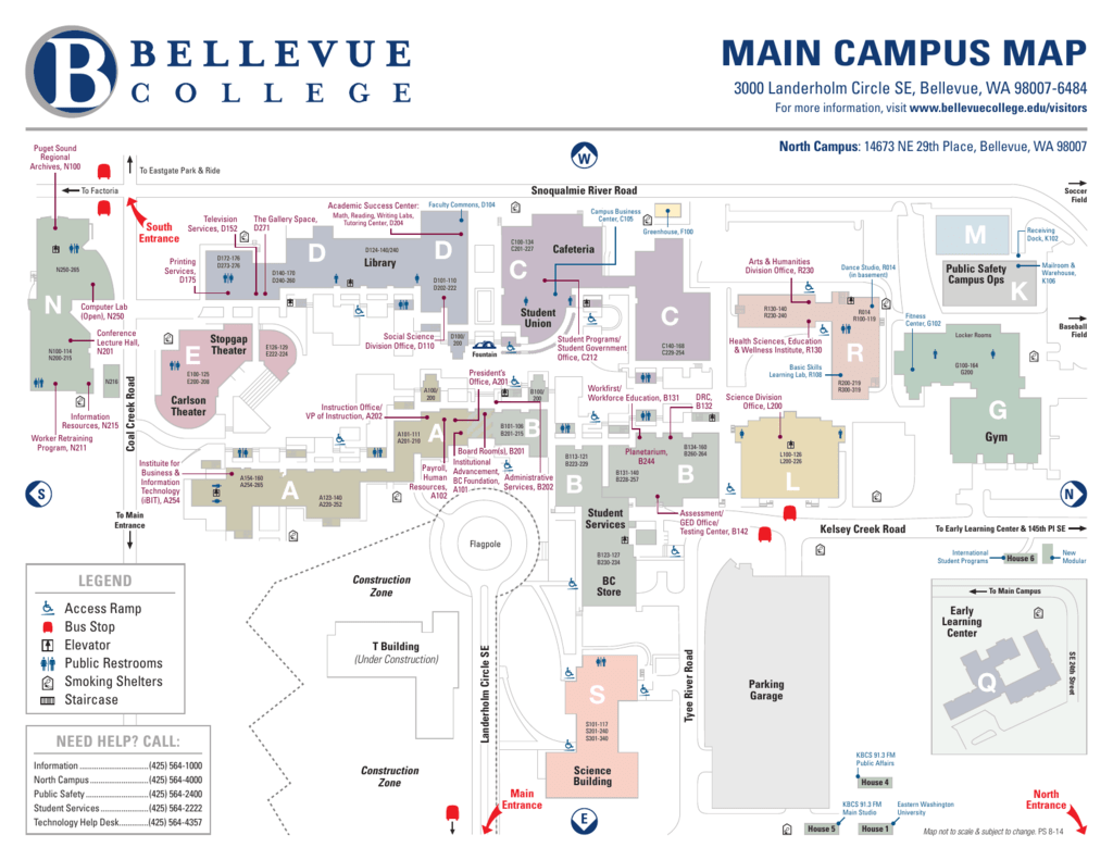 Main Campus Map Bellevue College