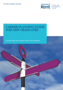 CAREER PLANNING GUIDE FOR NEW GRADUATES