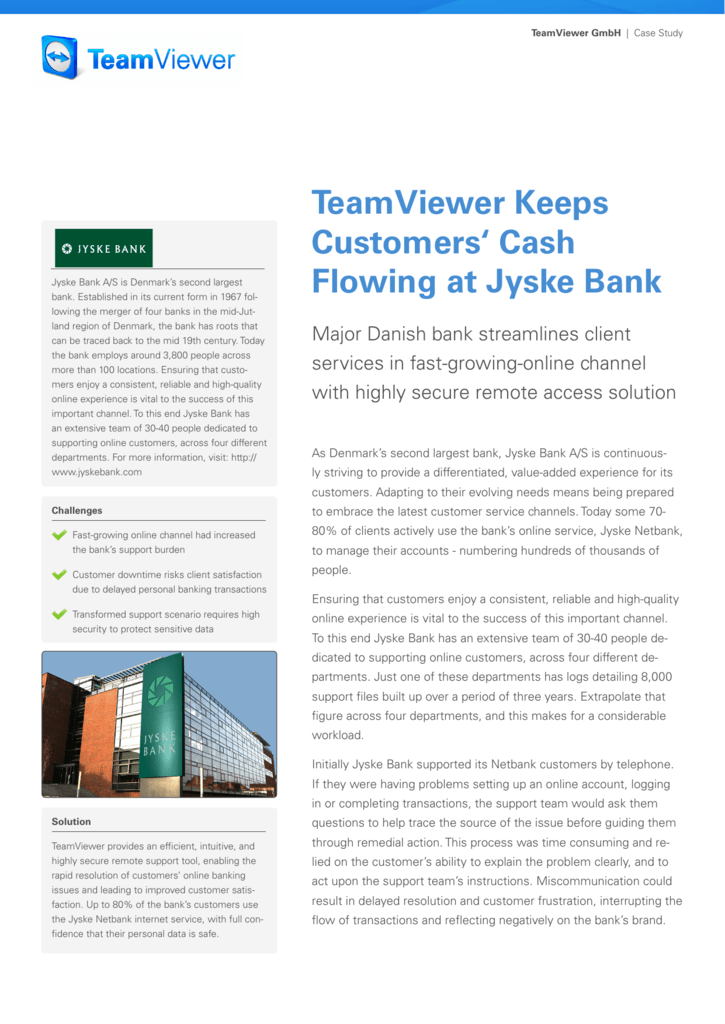jyske bank case study solution