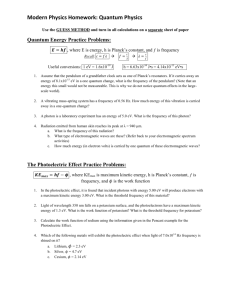Modern Physics Homework: Quantum Physics