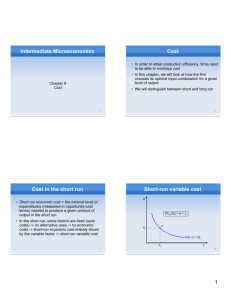 Intermediate Microeconomics Cost