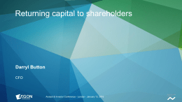 Aegon Strategy Update: Returning Cash to Shareholders