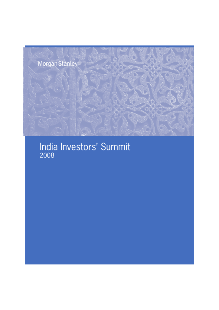 India Investor Summit 2008 Report